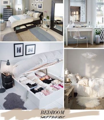 Decorating the Bedroom: the Shopping List