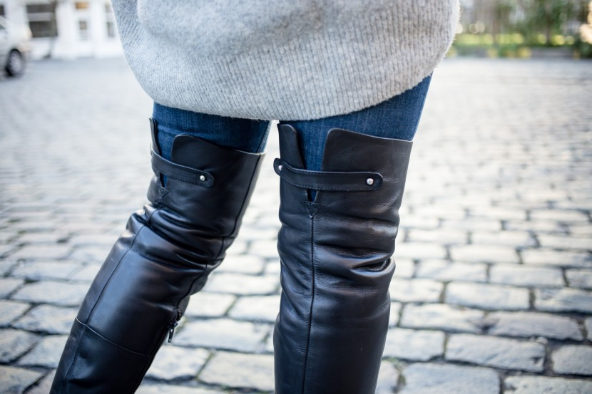 Over The Knee Boots 'Bell' from Topshop