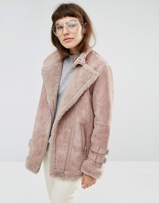 asos aviator jacket